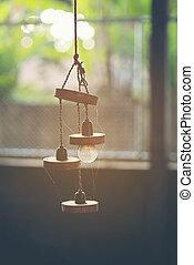 old light lamp, vintage filter image