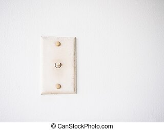 Old Light Switch On Wall