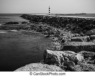 Old lighthouse in Algarve