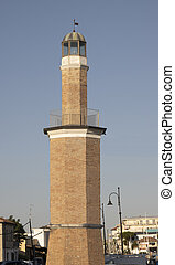 old lighthouse in the port of Cervia Italy