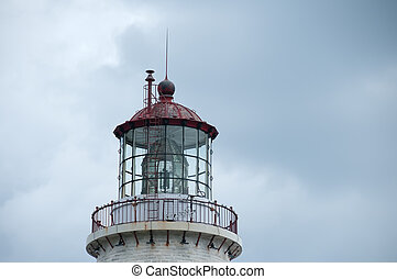 old lighthouse - top view of the oldest lighthouse in Gaspe...