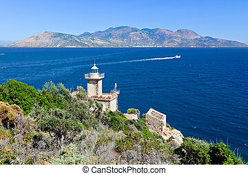 Old lighthouse, Poros, Greece