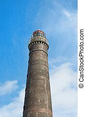 Old lighthouse at German wadden island Borkum