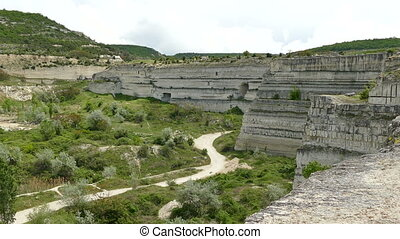 Old Limestone Quarry - View of the Old Limestone Quarry in...