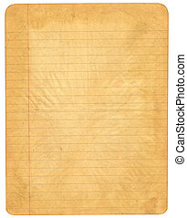 Old lined paper