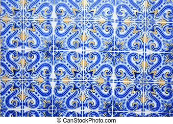 old Lisbon tiles , azulejos
