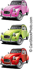 old little car set - Vectorial icon set of old little cars...