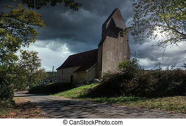 old little church in countryside of France