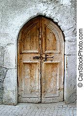 old little wooden door