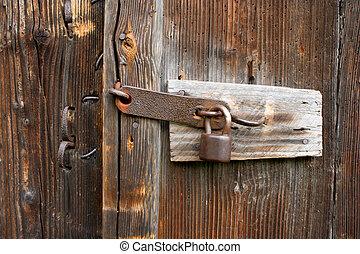 old lock - old rusty lock