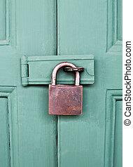 Old locked door.