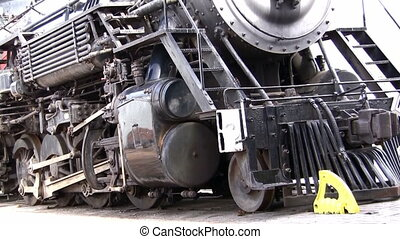 Old Steam engine locomotive