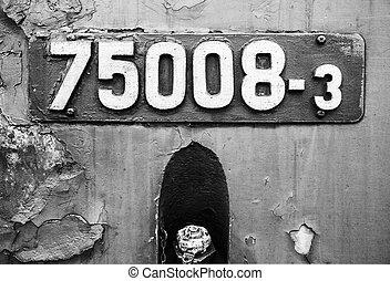 Old locomotive sign