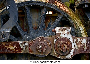 Old Locomotive Wheel