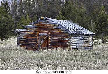 Old log home - Dougles lake, cabin,Okanagan.