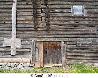old log house fragment