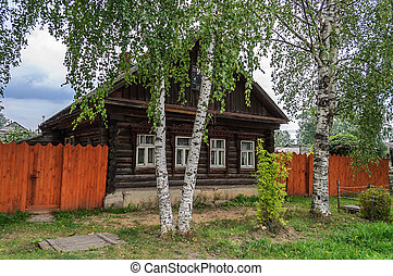 Old log house in the country