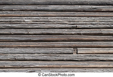 Old log wall background