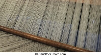 Old loom detail woth qhite thread - Loom with a texture of ...