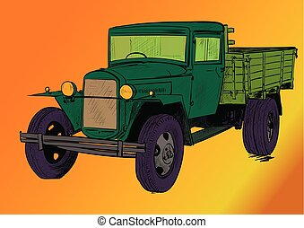 old lorry car