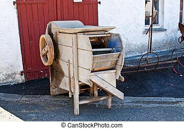 old machine for potatoe washing