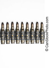 Old machine gun bullets