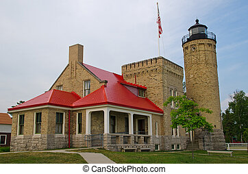 Old Mackinac Point Lighthouse, Mackinaw City, Michigan