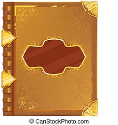 old magic book - Old magic book. Illustration in vector ...