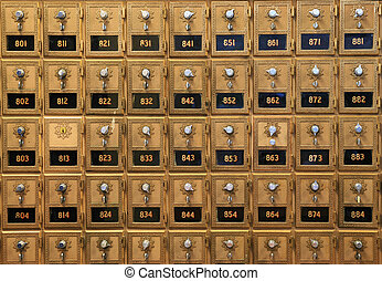 old mail boxes