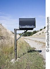 Mailbox - Old Mailbox in rural scene, USA