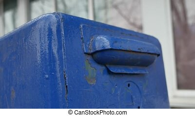 old mailbox on the street. mailbox retro receiving mail...