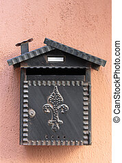 old mailbox on the wall