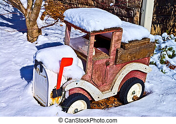 Old Mailbox Truck in the Snow