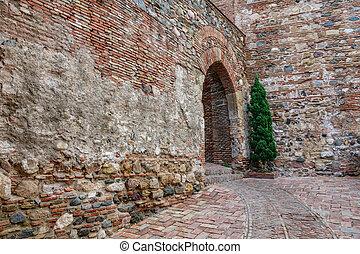 Malaga citadel entrance - Old Malaga citadel entrance