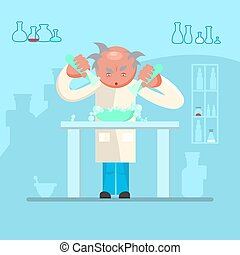 male scientist in lab room