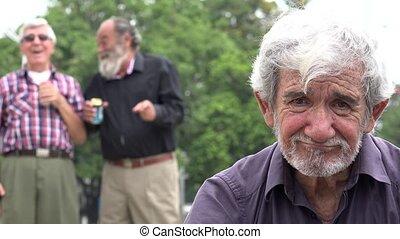 Old Man Bully Lonely Sad Elderly