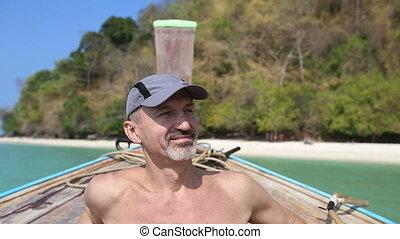 Beach old man naked