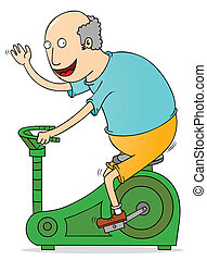 old man exercising