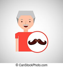 old man fathers day mustache
