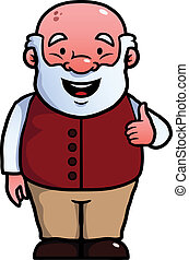 Old man giving thumbs up - Old man giving a thumbs up