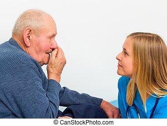 Old Man Having Influenza