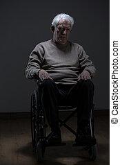 Old man on wheelchair
