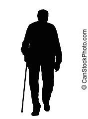 Old man silhouette