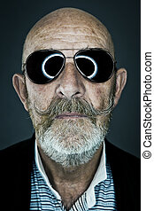 old man sunglasses