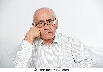 old man thinking