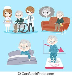 old man with health problem