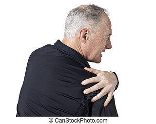 old man with shoulder pain