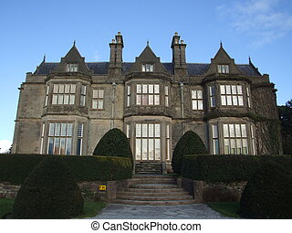 Big english landlords mansion in west of Ireland dating to 19th century