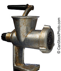 Old manual meat grinder