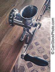 old manual meatgrinder